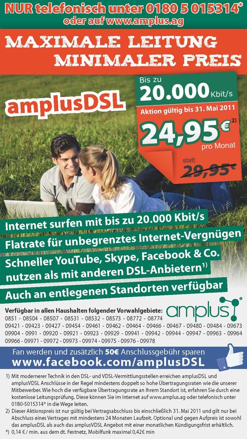 amplusDSL Inserat Mai 2011