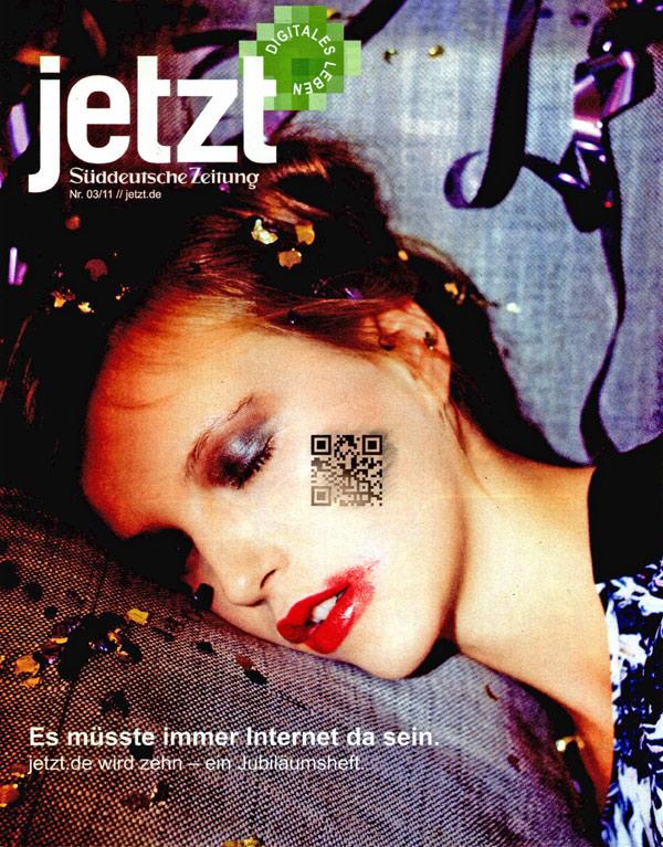 jetzt-Magazin August 2011 mit einem eingebeteten QR-Code