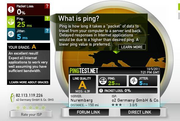 Ping o2 LTE mit Stick