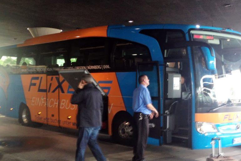 Der Flixbus am ZOB in München
