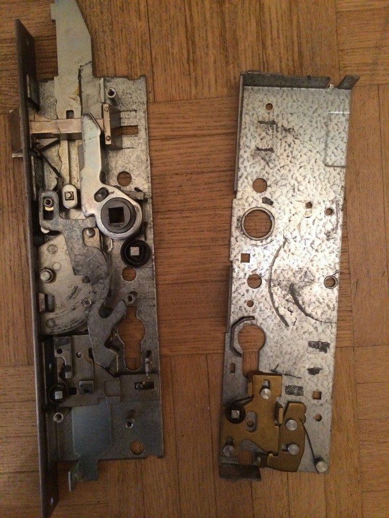 Bild1: Zerlegtes Biffar Sicherheitseinsteckschloss