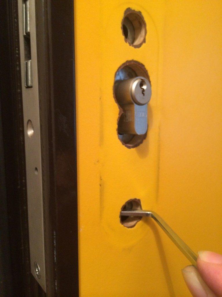 Bild 4: Schließzylinder ohne Spezialwerkzeug von Biffar wiedereinsetzen