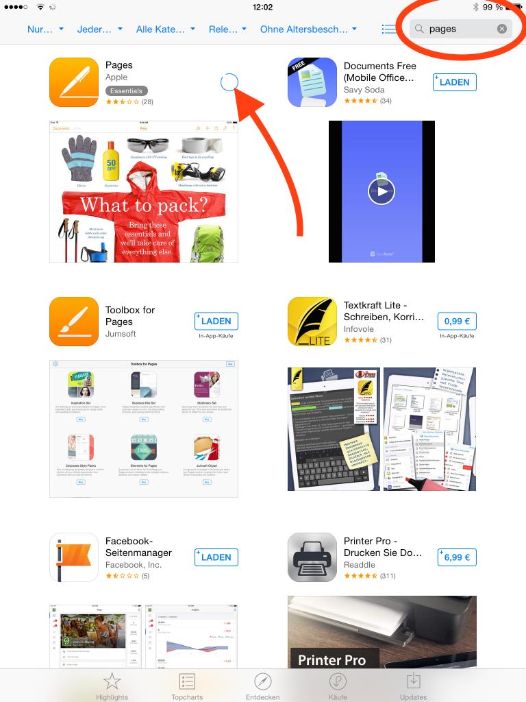 Ist das Löschen abgeschlossen, sollte die betroffene App nicht mehr am Homescreen zu finden sein. WICHTIG: Jetzt noch mal das Gerät neu starten. Nach dem Neustart: Ab in den App-Store und die App neu installieren.